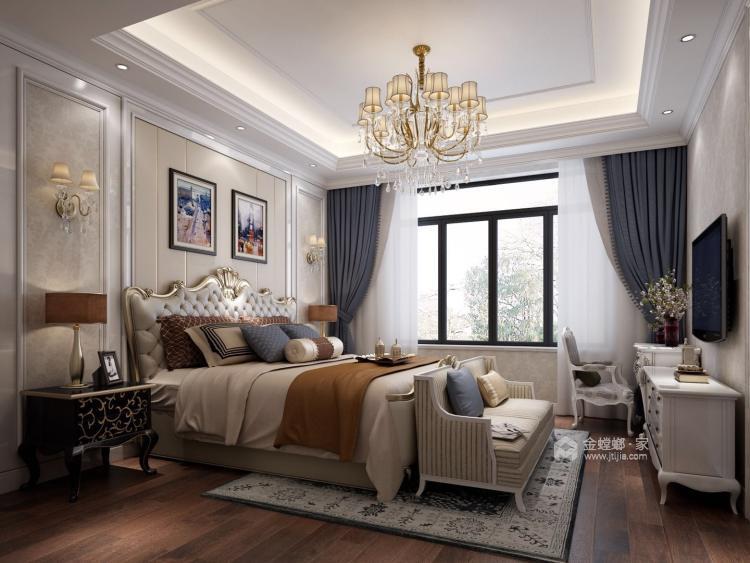 给爸妈装修的浪漫主义欧式风-卧室效果图及设计说明