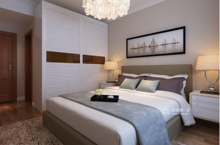 温馨大方的新中式-卧室效果图及设计说明