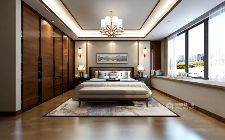淡雅不失高贵中式的家-卧室效果图及设计说明