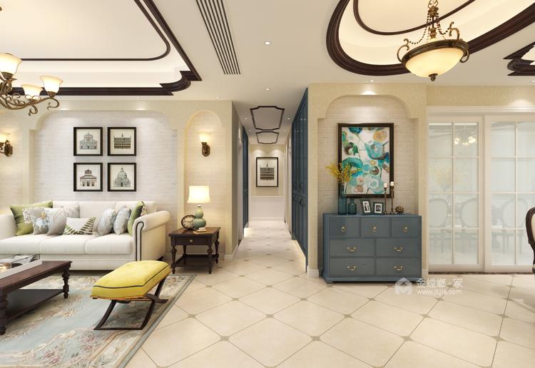 卡座:补充厨房的储物空间-客厅效果图及设计说明