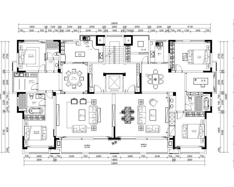淡雅不失高贵中式的家-平面设计图及设计说明