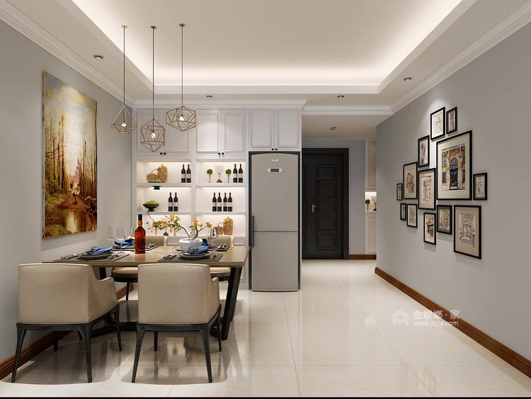 97平简约现代风格,吧台和酒柜演绎生活-餐厅效果图及设计说明