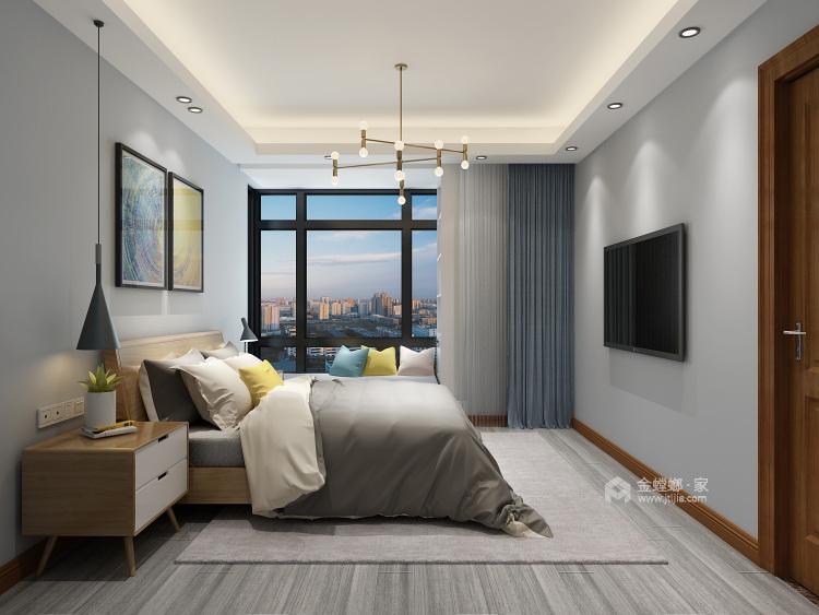 97平简约现代风格,吧台和酒柜演绎生活-卧室效果图及设计说明