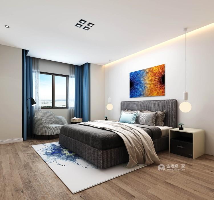 四季金辉120平简约现代风-卧室效果图及设计说明