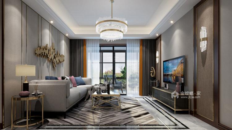 简约现代风,轻奢与精致之作-客厅效果图及设计说明