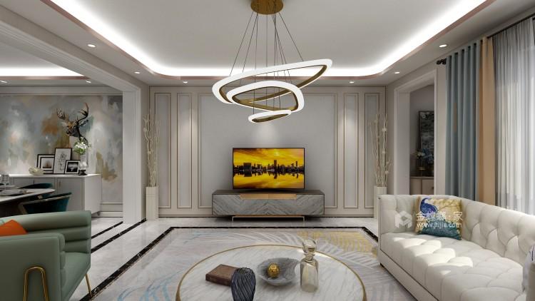 """""""而·遇""""——高级灰营造品质轻奢现代风-客厅效果图及设计说明"""