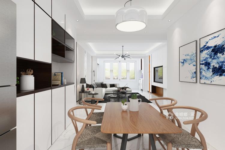 140平白色简洁现代风,艺术气质尽显-餐厅效果图及设计说明