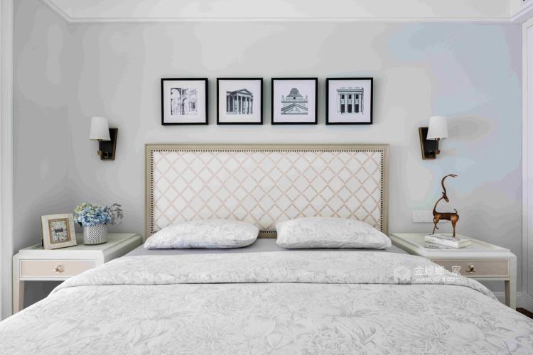 126平优雅静谧美式公寓,简洁大方-卧室效果图及设计说明
