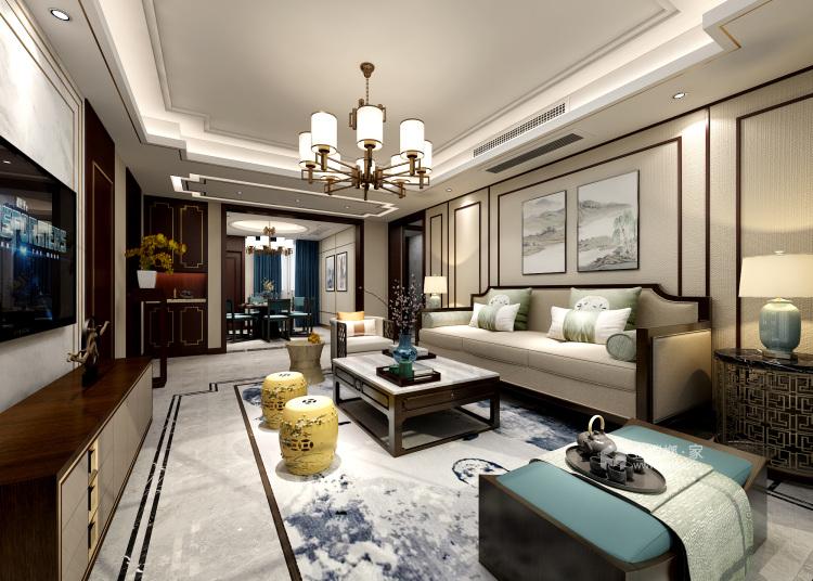 让客人惊艳的中式客厅,就要这样装-客厅效果图及设计说明