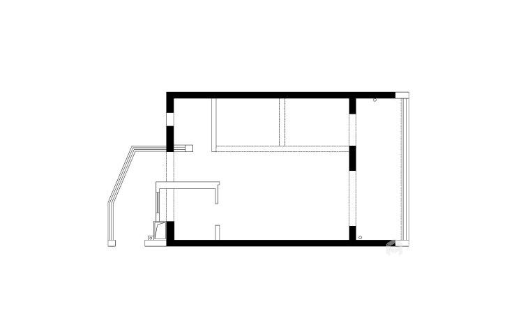 126平优雅静谧美式公寓,简洁大方-业主需求&原始结构图