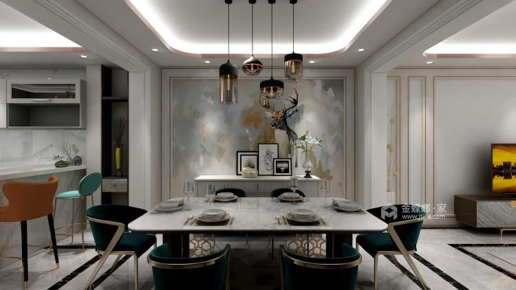 """""""而·遇""""——高级灰营造品质轻奢现代风-餐厅效果图及设计说明"""