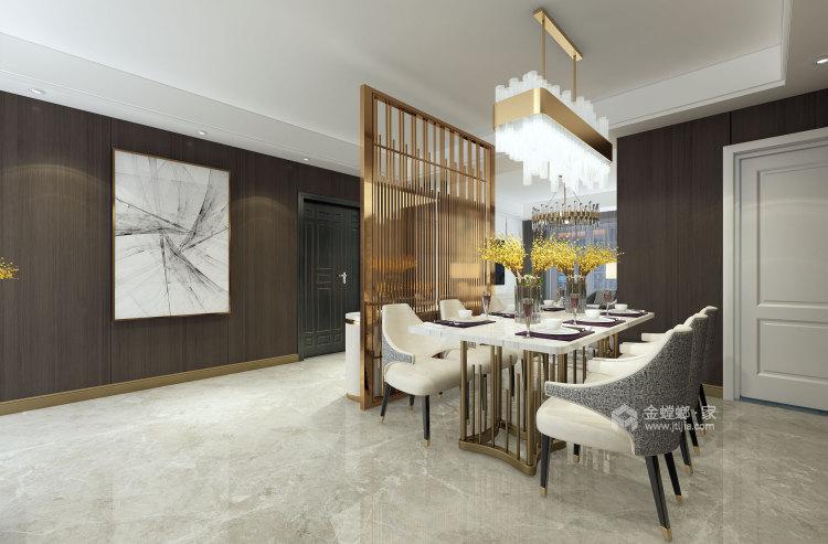 现代风格之家,沉静优雅-餐厅效果图及设计说明