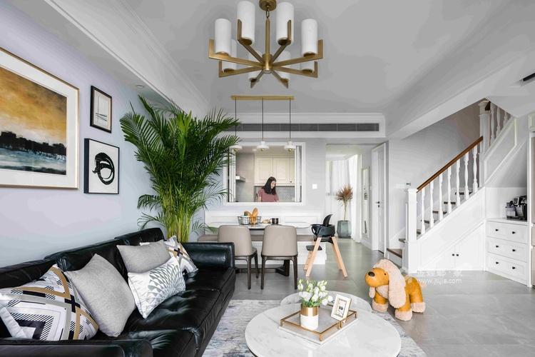 126平优雅静谧美式公寓,简洁大方-餐厅效果图及设计说明