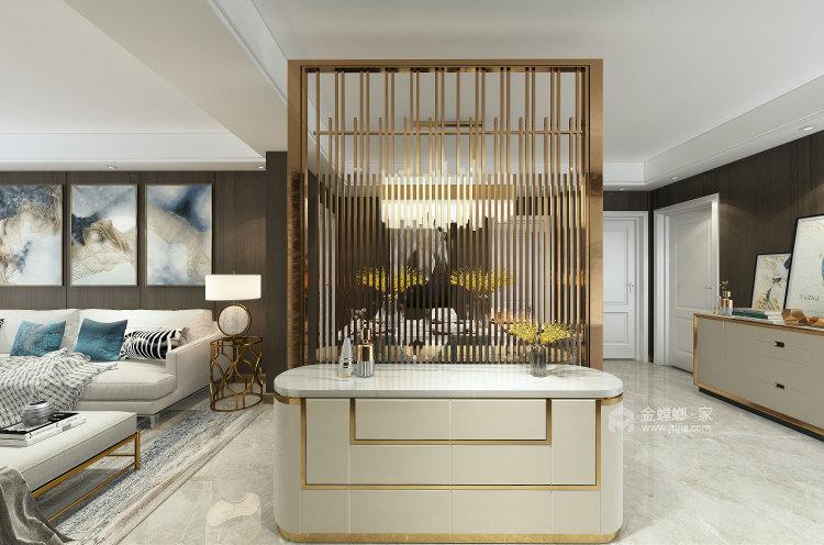 现代风格之家,沉静优雅-客厅效果图及设计说明