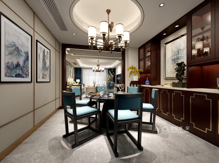让客人惊艳的中式客厅,就要这样装-餐厅效果图及设计说明