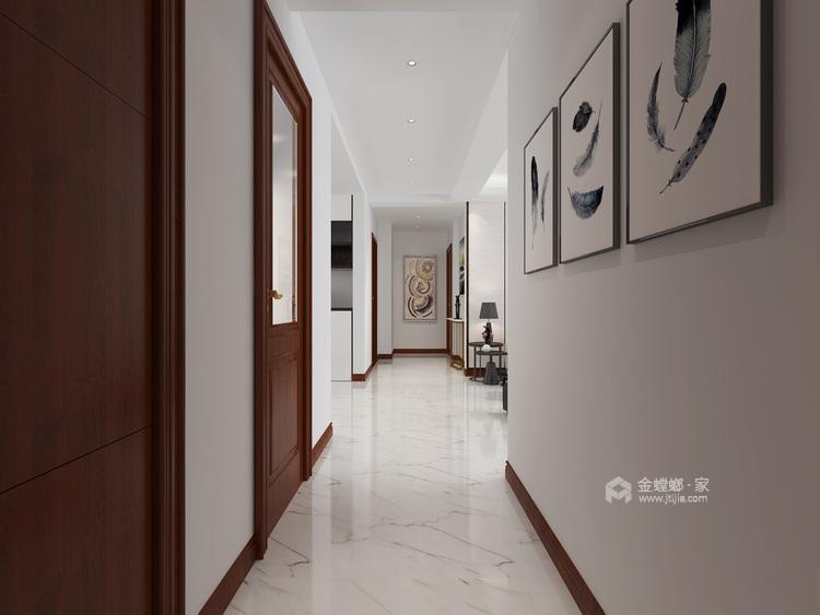 140平白色简洁现代风,艺术气质尽显-客厅效果图及设计说明