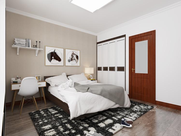 140平白色简洁现代风,艺术气质尽显-卧室效果图及设计说明