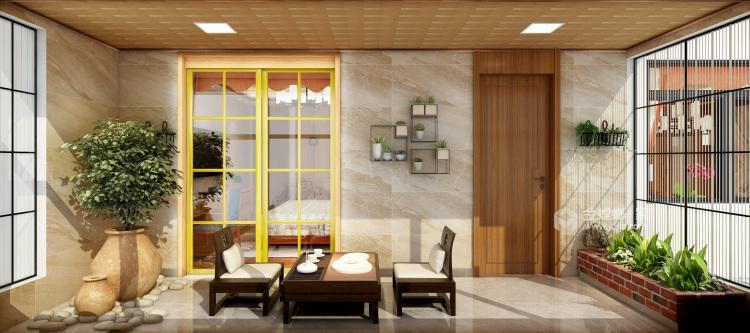 260平新中式风格,极致东方美学-阳台