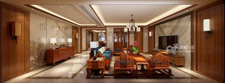 260平新中式风格,极致东方美学-客厅效果图及设计说明