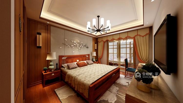 260平新中式风格,极致东方美学-卧室效果图及设计说明