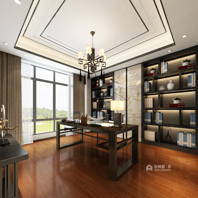 古典与现代交织,189平新中式之美-书房
