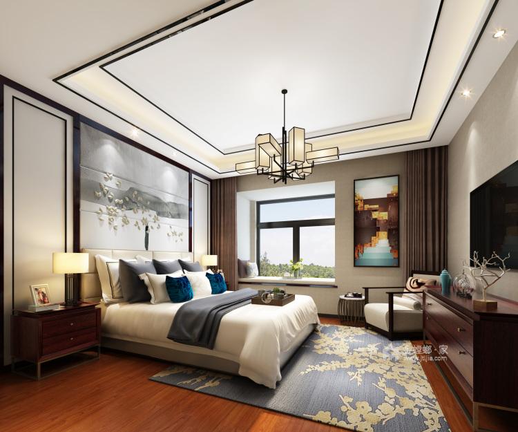 古典与现代交织,189平新中式之美-卧室效果图及设计说明