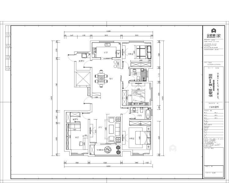 干净舒适的三口之家-平面设计图及设计说明