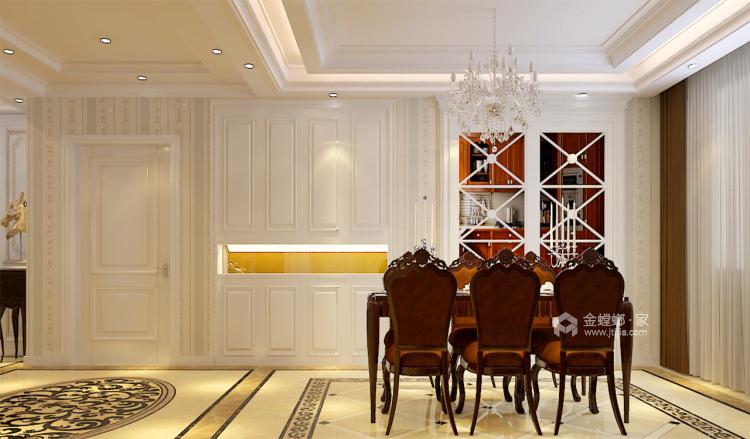想要古典与高贵并存的家,欧式是最正确的选择-餐厅效果图及设计说明