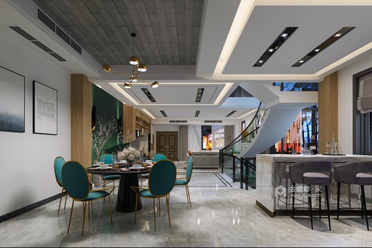 远离浓烈世俗气息,别墅就要这样装-餐厅效果图及设计说明