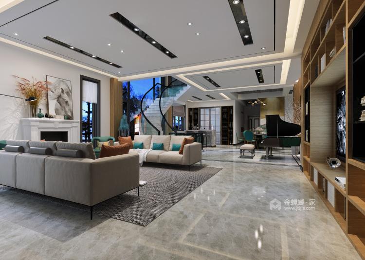 远离浓烈世俗气息,别墅就要这样装-客厅效果图及设计说明