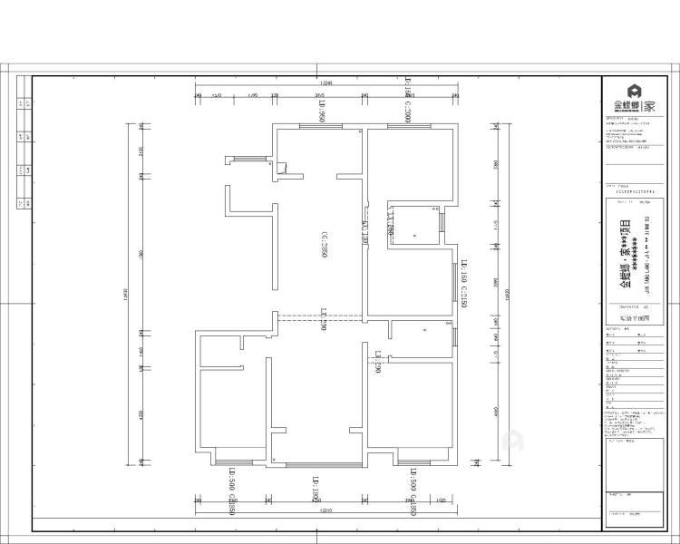 干净舒适的三口之家-业主需求&原始结构图