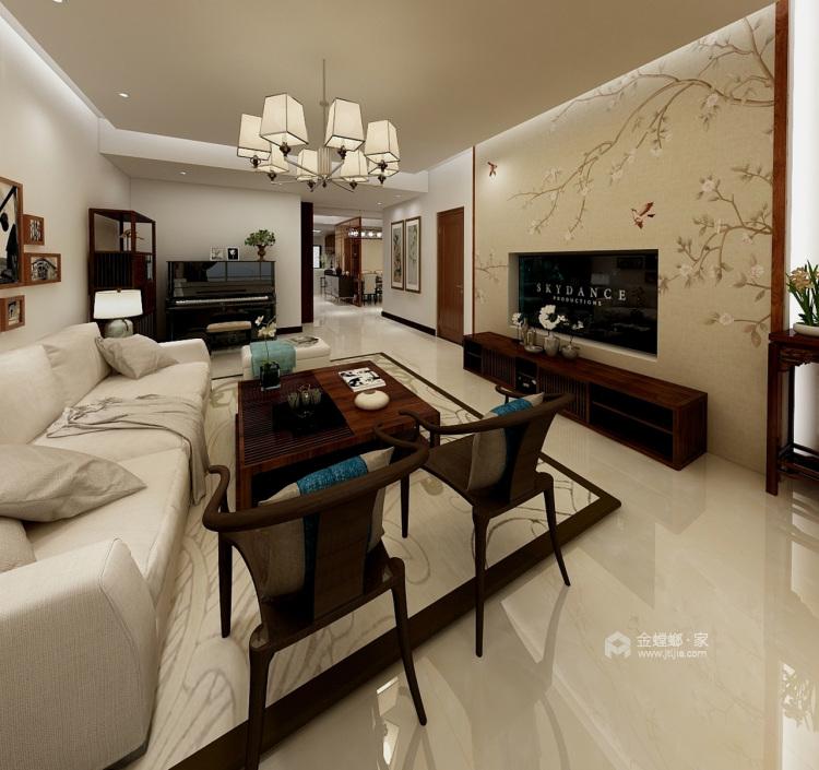 新中式风格,没想到竟然这样美!-客厅效果图及设计说明