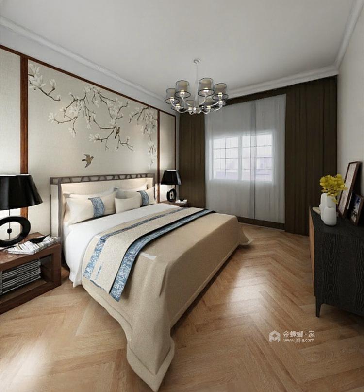 新中式风格,没想到竟然这样美!-卧室效果图及设计说明
