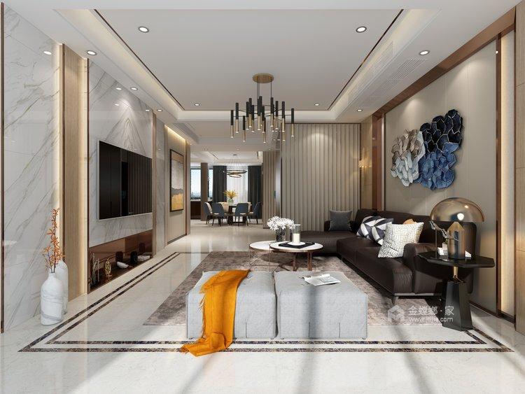 100多㎡ 的家,要如何才能装出自己喜欢的风格-客厅效果图及设计说明