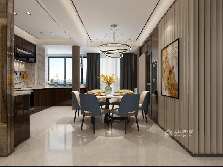 100多㎡ 的家,要如何才能装出自己喜欢的风格-餐厅效果图及设计说明