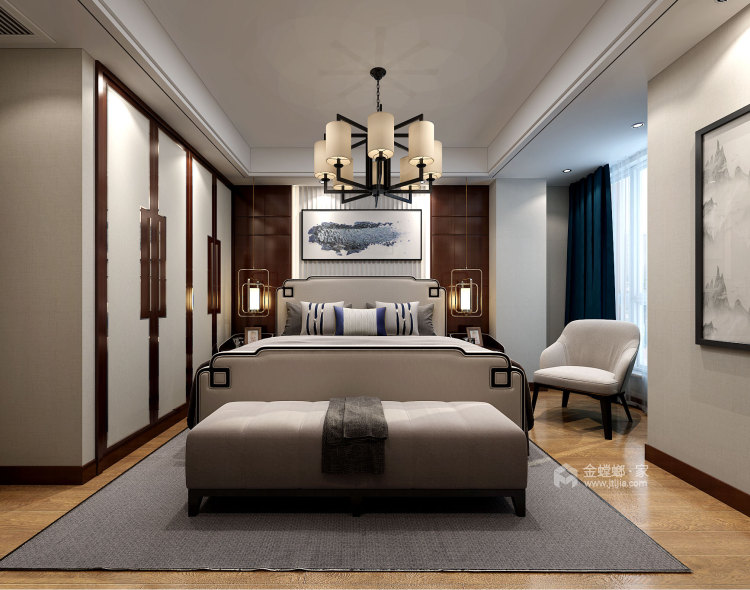 让客人惊艳的中式客厅,就要这样装-卧室效果图及设计说明