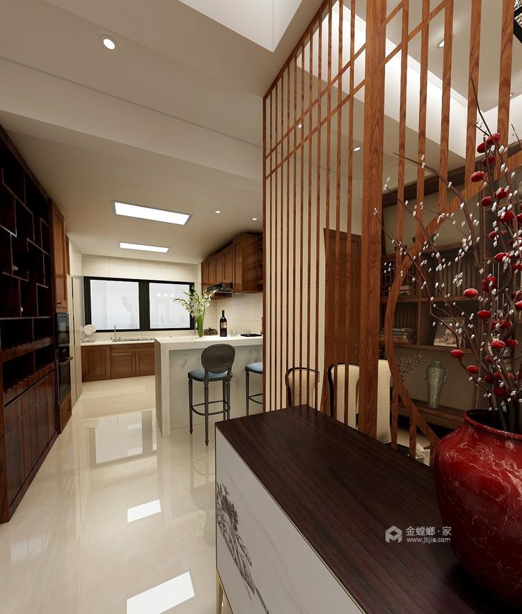 新中式风格,没想到竟然这样美!-餐厅效果图及设计说明
