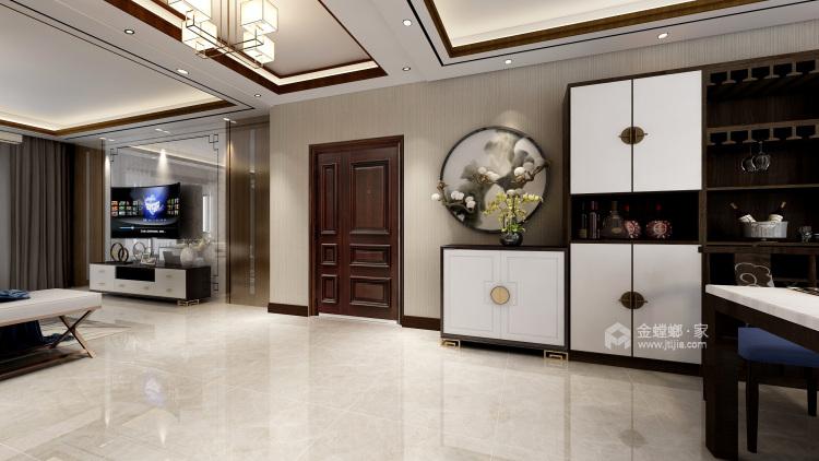 黑胡桃木色为主调的沉稳大气新中式-卧室效果图及设计说明