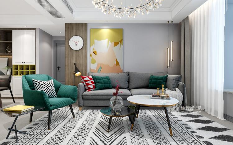 130㎡现代风格,小房间也能做榻榻米-客厅效果图及设计说明
