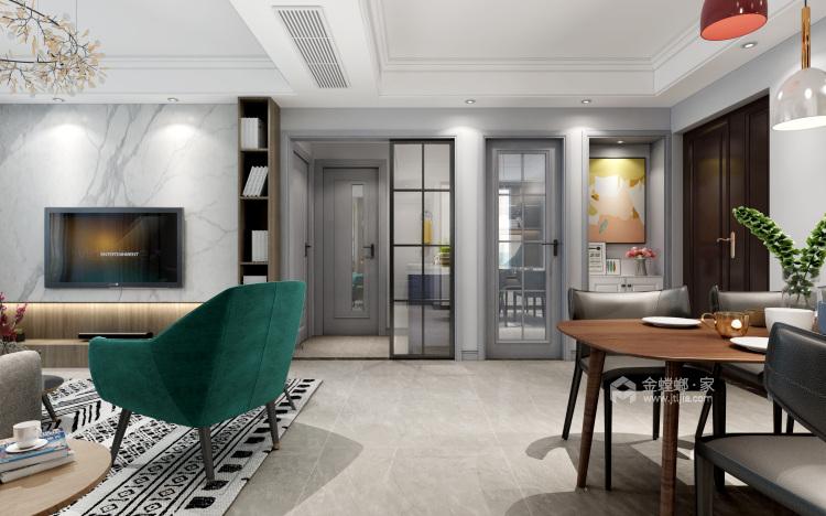 130㎡现代风格,小房间也能做榻榻米-餐厅效果图及设计说明