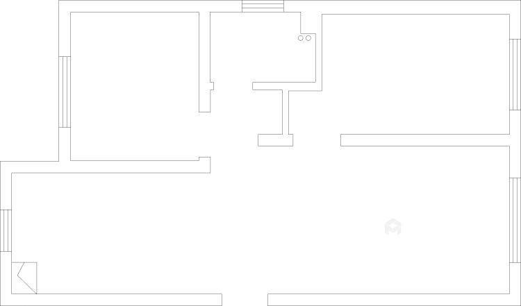 98平米现代黑白灰,勾勒简约气质-业主需求&原始结构图