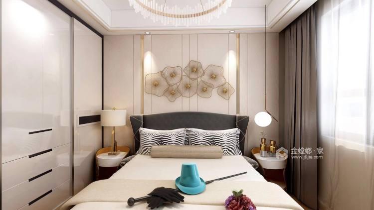 奶咖色的现代风,让空间更具时尚感-卧室效果图及设计说明