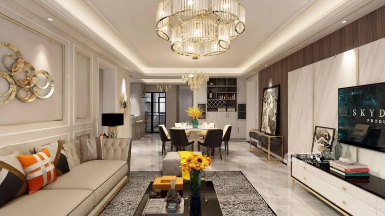 奶咖色的现代风,让空间更具时尚感-餐厅效果图及设计说明