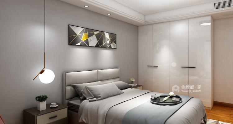 黑白灰的现代风让装修更加简单-卧室效果图及设计说明