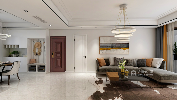 黑白灰的现代风让装修更加简单-餐厅效果图及设计说明