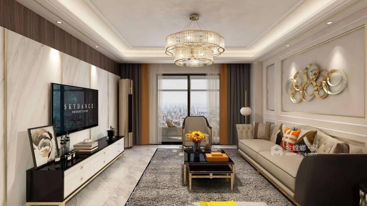 奶咖色的现代风,让空间更具时尚感-客厅效果图及设计说明