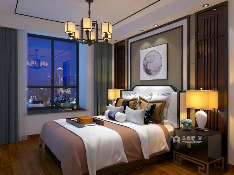 不严肃、不拘谨,134㎡新中式注入新的元素-卧室效果图及设计说明