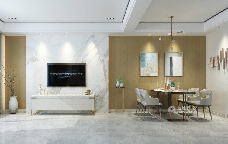 淡淡的咖色给整个空间增添不一样的质感-餐厅效果图及设计说明