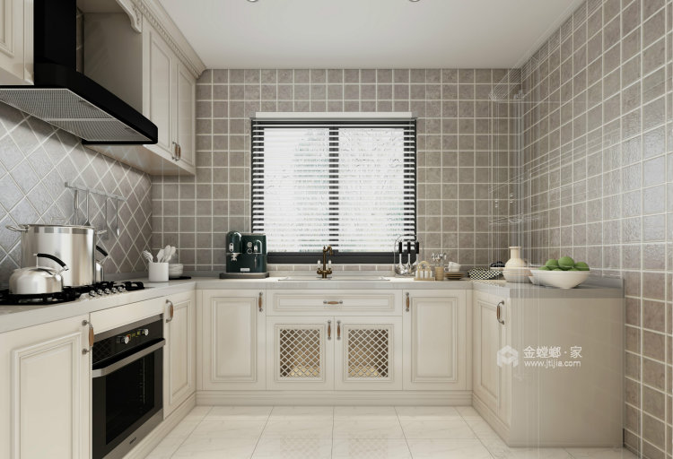 淡淡的咖色给整个空间增添不一样的质感-厨房