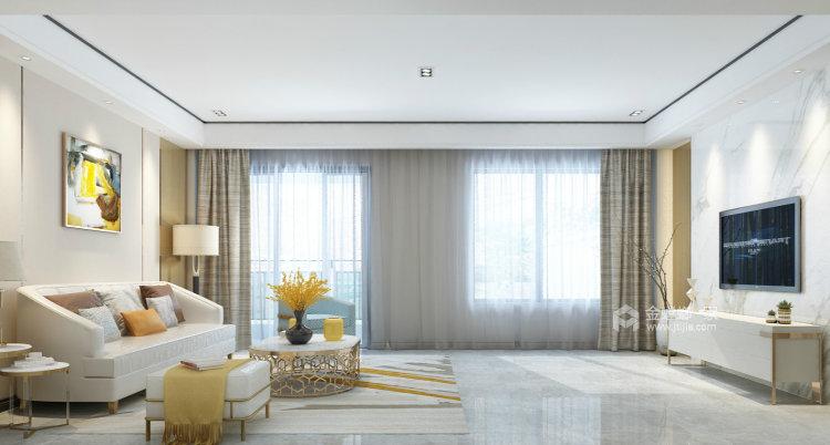 淡淡的咖色给整个空间增添不一样的质感-客厅效果图及设计说明